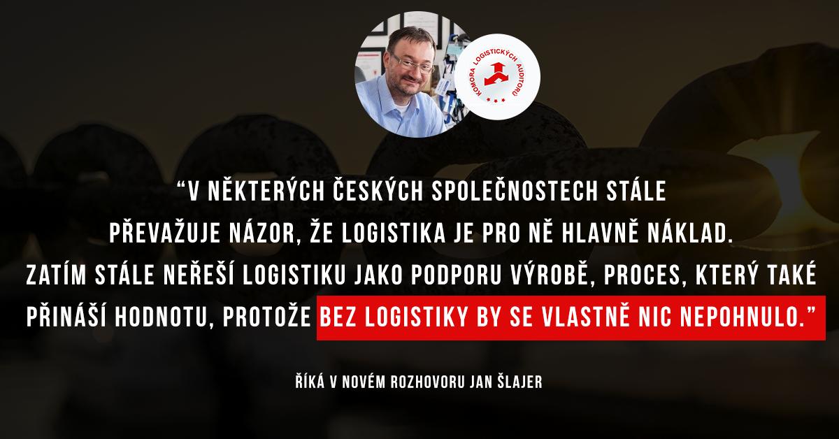 Jan Šlajer o logistice, rodině a prediktivní simulaci